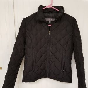 Kenneth Cole Reaction Black Puffer Coat Size S